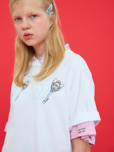 MIMI EMBROIDERY T/WHITE