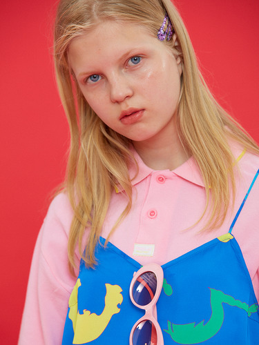DOLLS ONLY LOGO COLLAR T/PINK